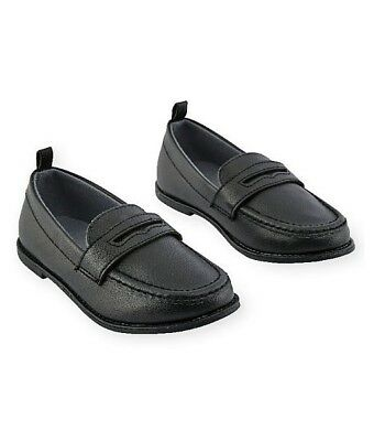 Koala Kids Toddler Boys Penny Loafers Black Slip On Comfy Dress
