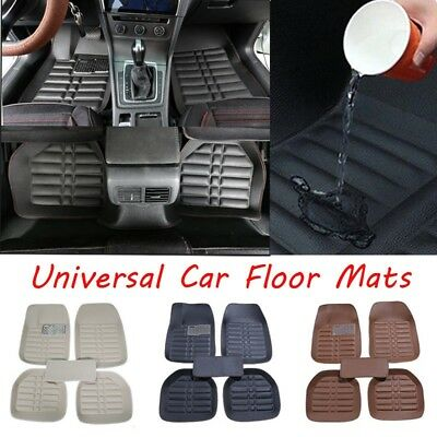 5pcs Car Floor Mats Front & Rear Liner Waterproof All Weather Universal Auto Mat