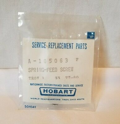 Hobart Spring FEED SCREW FOR 1612E SLICERS QTY 1 NOS OEM 00-105063/A-105063