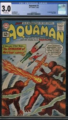 DC Aquaman #1 1962 CGC 3.0 Silver Age comic book