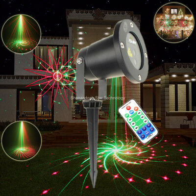 Commercial Lighting Eshiny Outdoor Remote R&b Laser 16 Big Patterns Projector Wf House Bar Dance Xmas Tree Wall Garden Effect Landscape Light T57 Moderate Price