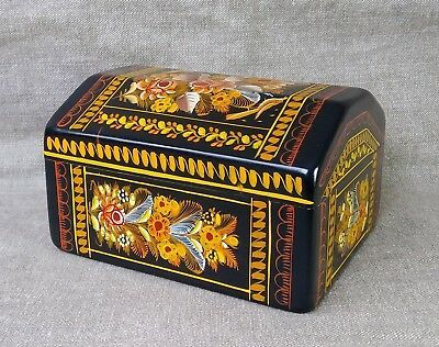 Nice Olinala Lacquered Trunk. Mexican Folk Art.