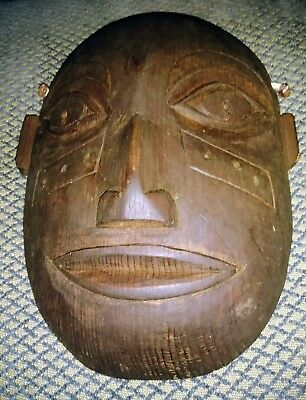 20th C. Tlingit Wooden Portrait Mask by Willie Marks, ca. 1950