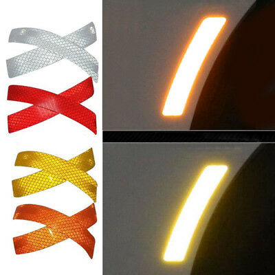 2x Car Bumper Reflective Warning Strip Decal Stickers Accessory Safe For Toyota