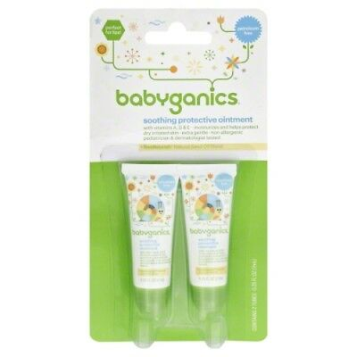 Babyganics .25 oz. Soothing Protective Ointment 2 per Package Travel Size