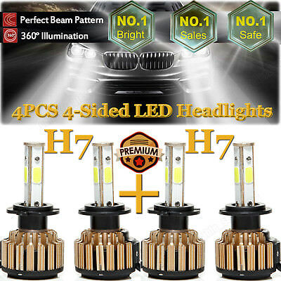 H7+H7 LED Headlight Kit Bulb 2800W H/L Beam For Hyundai Santa Fe Sonata Veloster