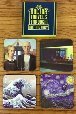 Doctor Who: The Doctor Travels Through Art History Coaster Set
