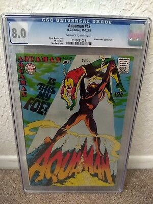 Aquaman #42 CGC 8.0, 2nd appearance of Black Manta, Classic cover, Momoa movie