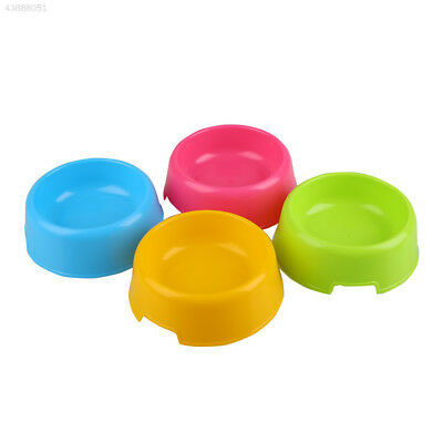 Pet Cat Lovely Plastic Feed Drink Water Dish Food Dishes Bowl Travel Feeder