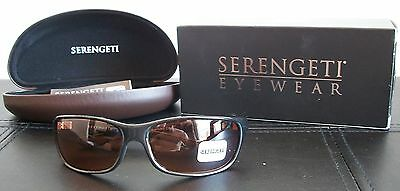 9e2f48bef607 Serengeti 6752 Cascade Sunglasses Drivers Lens Shiny Black Frame New w/Case  Box