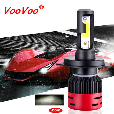 1PCS H4/9003 8000LM 4000K Car COB LED Conversion Headlight Bulb Hi/Lo Beam 4300K