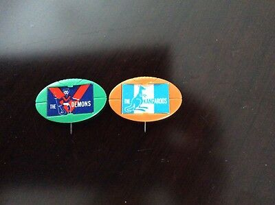 Football pins from 1960's