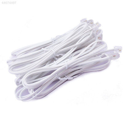 Broadband ADSL2+RJ11 Modem Internet Router Cable Line Lead Connector 1M White