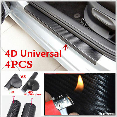 4xAnti-Kick Carbon Fiber Car Accessories Auto Door Sill Scuff Protector Stickers