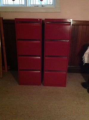 Statewide 4 drawer filing cabinet,red/burgundy,Keyed/locks.Works as new EC 2of2