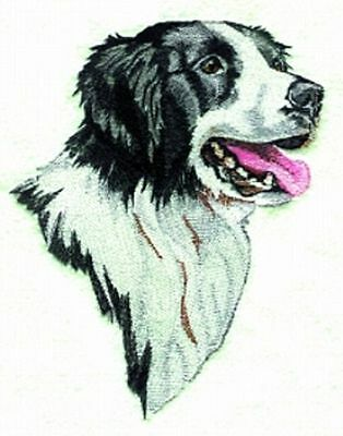 "Border Collie Dog, Embroidered Patch 6"" x 7.7"""