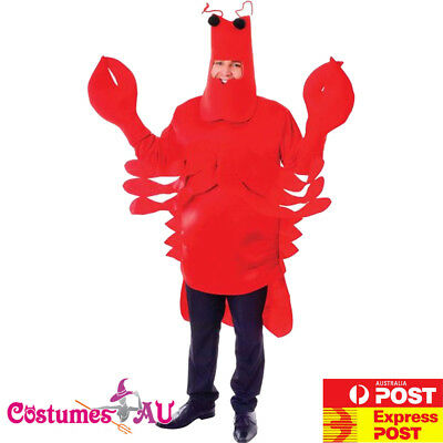 Mens Red Lobster Costume Funny Unisex Monster Sea Animal Stag Night Book Week