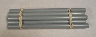 Beautiful rare lot of galalith grey marbled 12 rods 322 grams