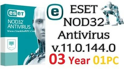 ESET NOD32 Antivirus 11 Genuine Product Key | 3 YEARS | 1 PC | NOD 32 | Online.