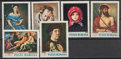 ROUMANIE : 2371-76 ** MNH – paintings tableaux schilderijen 1968