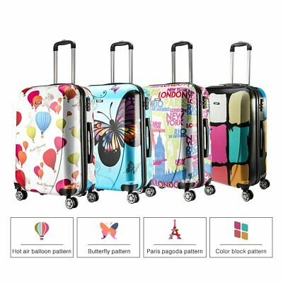 PC Reisekoffer MIX Hartschale Kofferset Koffer Doppelrollen Trolley Case M L XL