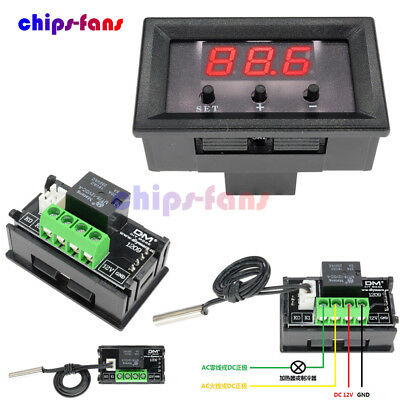 -50-110°C W1209 12V Digital Thermostat Temperature Temp Controller Switch Sensor