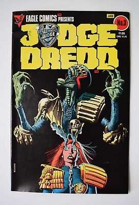 Judge Dredd Vol 1, No 3, He Is The Law January 1984. Eagle Comics Brand New
