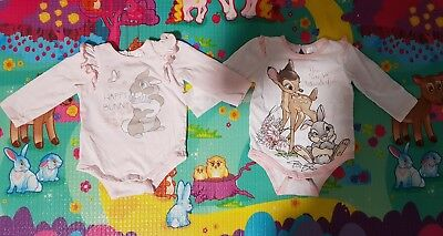 Disney Baby Girls Long Sleve Clipup Tops Bambi And Miss Bunny Size0