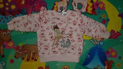 Disney Baby Girls Jumper Size 0 Bambi And Miss Bunny