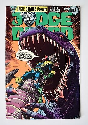 Judge Dredd Vol 1 No 7  He Is The Law May 1984. Eagle Comics Good Condition