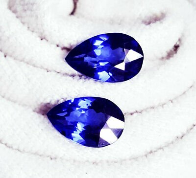 Loose Gemstone 6 to 8 Cts Natural Tanzanite Pear Shape Certified