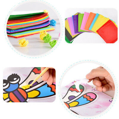 Production Materials Package Paper Crepe Paint Sticky Painting Children Toys CB