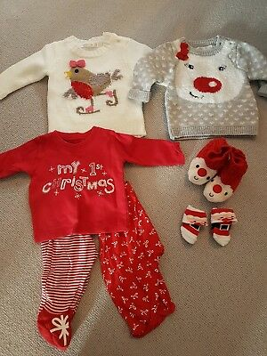 Christmas baby clothes bundle, 0-3 months