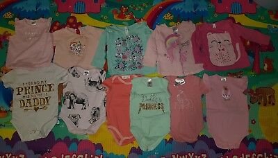 Baby Girls Tops And Clip Up Top Romper Bundle Size 0