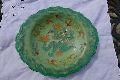 Art Deco Crown Ducal Charlotte Rhead Designed Dragon Charger, signed.