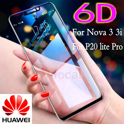 6D For Huawei Nova 3 3i P20 Lite Pro Full Cover Tempered Glass Screen Protector