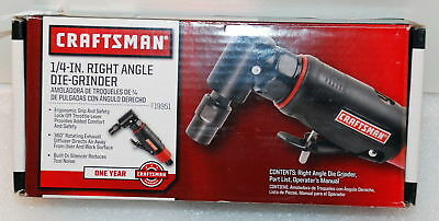 Craftsman 19951 1/4 in. Right Angle Pneumatic Die Grinder NEW IN THE BOX