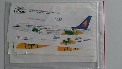 F- Decals 1:144  B737-800 Hainan Airlines  Tropical