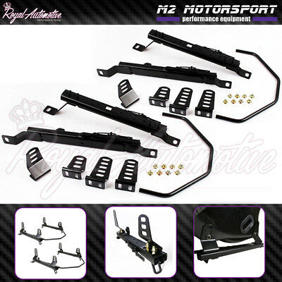 Low Mount Bucket Seat Frame Rail Subframe for Nissan GTR R35 Pair Left Right