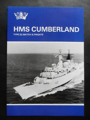 Royal Navy HMS CUMBERLAND Welcome Aboard 1998