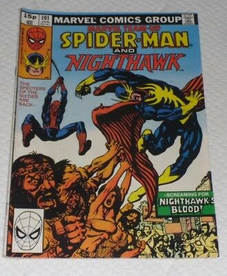 Marvel Team Up 101 # Jan 81 With Night Hawk Another Very Rare Apprerance 49P