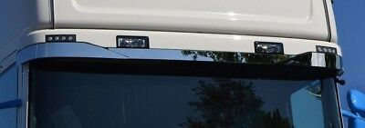 To Fit Scania Half Sunvisier Super Polished Stainless Steel 3 Pcs