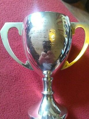 Solid Silver Cup Made by F H Adams & Holman1937