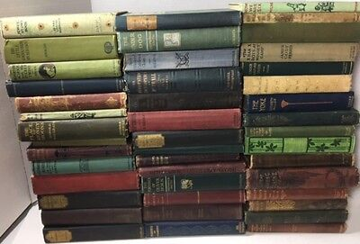 Lot of 5 Antique Vintage Old Books Collector Decorator Set *MIXED LOT UNSORTED*