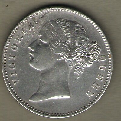 British India - One Rupee 1840 Victoria Queen - Divided Legend Rare Silver Coin