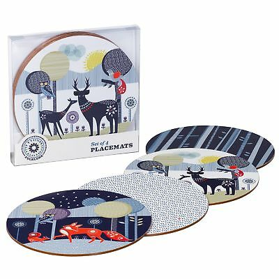 Folklore Set of 4 Placemats - Night and Day Set by Wild & Wolf