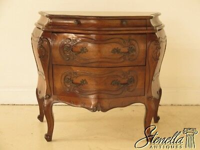 41605E: Italian 3 Drawer Continental Commode Chest