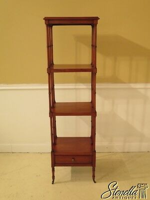 30172EC: Mahogany 4 Tier Eterge Or Bookshelf w. Drawer