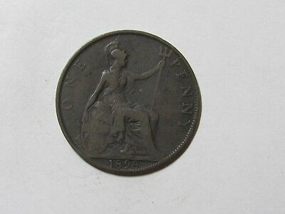 Old Great Britain Coin - 1898 Penny - Circulated