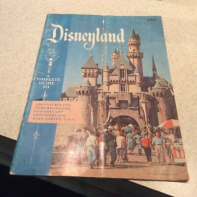 "DISNEY's OFFICIAL ""1957 DISNEYLAND GUIDE BOOK"" VERSION 1-COMPLETE"